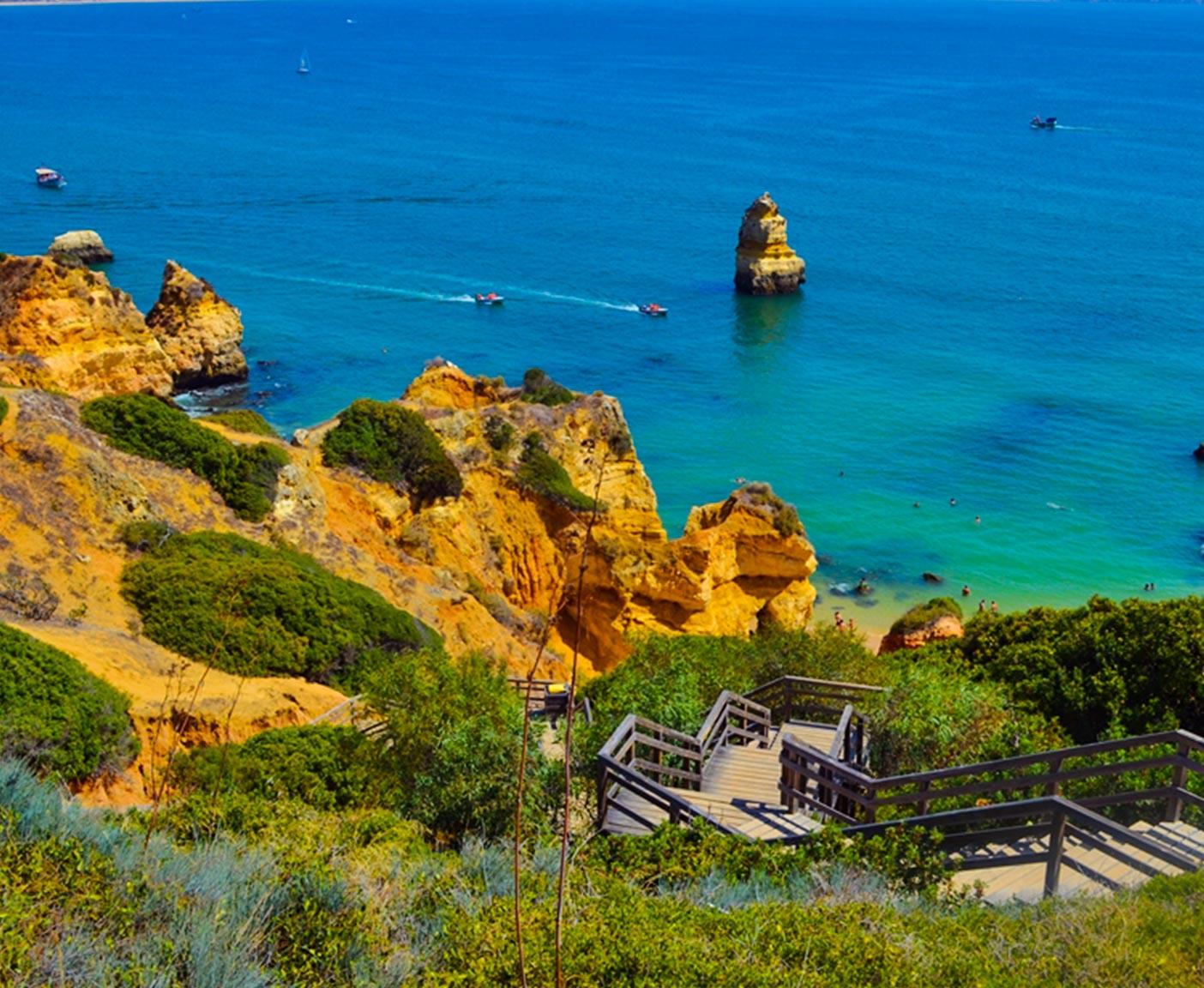 praia do camilo Algarve Portugal Reisefotografie Paulcamper