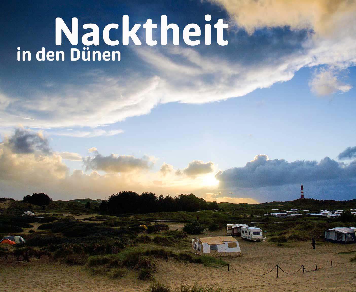 FKK-Camping Campingplatz Deutschland Ostsee in den Dünen, Leuchtturm,Sonnenuntergang, PaulCamper