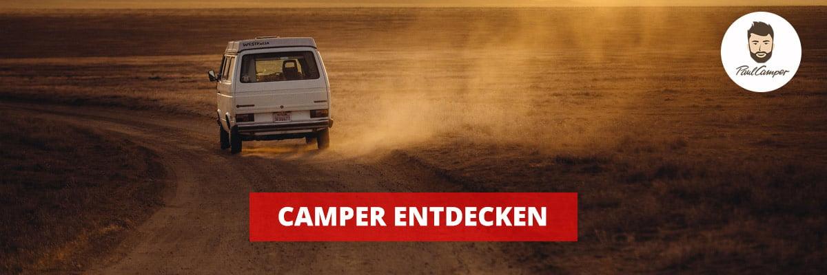 Camper entdecken Straße Wohnmobil
