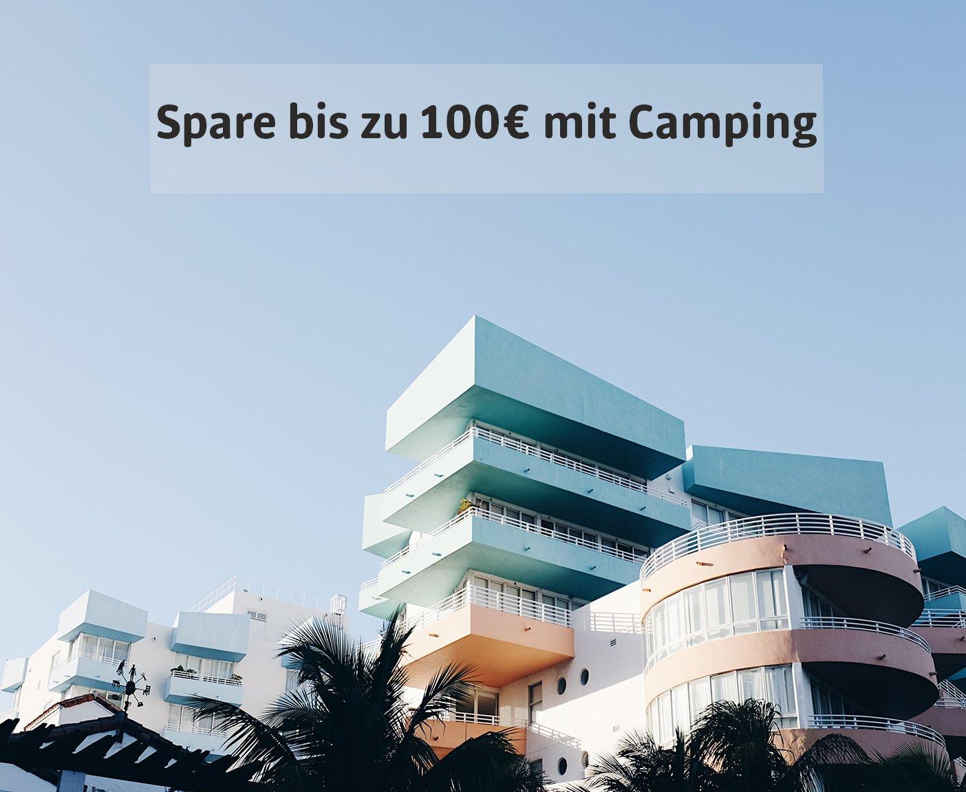 VW Bus mieten Sparpotential durch Camping im Vergleich zum Hotelurlaub