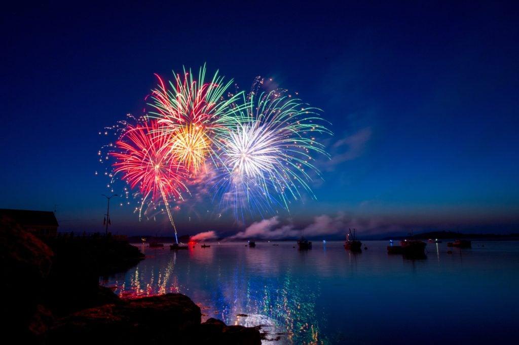 Wo Silvester feiern PaulCamper Feuerwerk Strand Nordsee