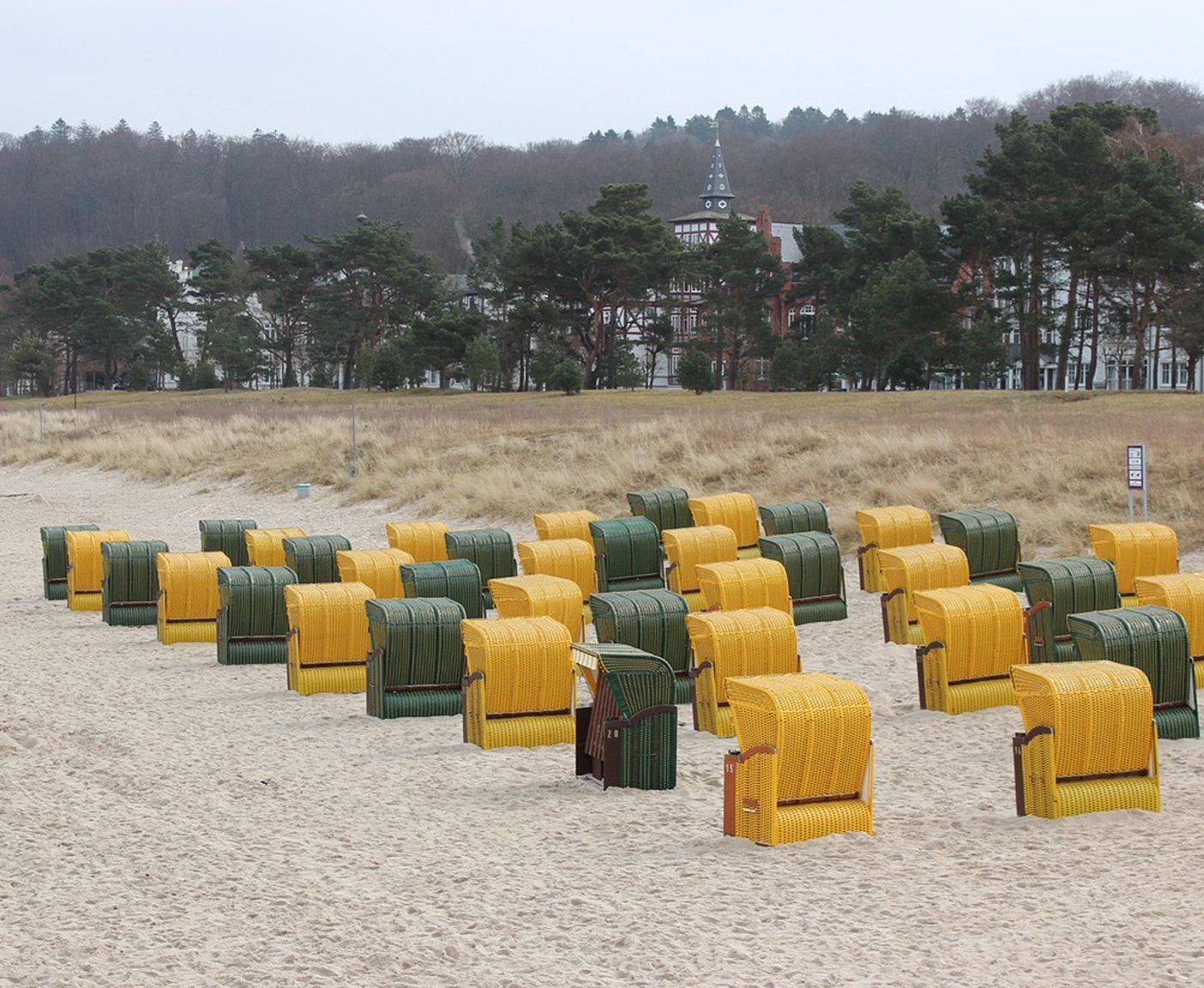 Wo Silvester feiern Strandkorb auf Ruegen