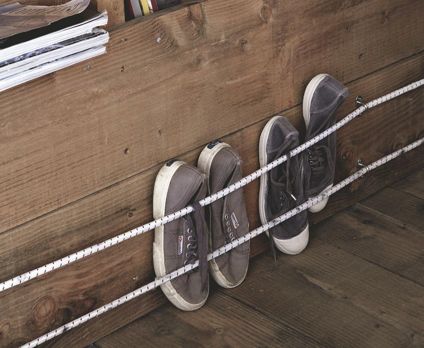 Wohnwagen renovieren Schuhe aufbewahren