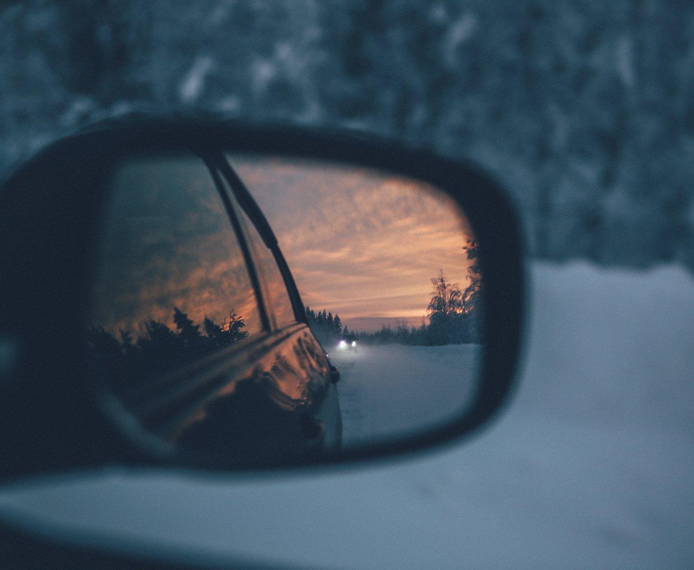 Seitenspiegel von Camper