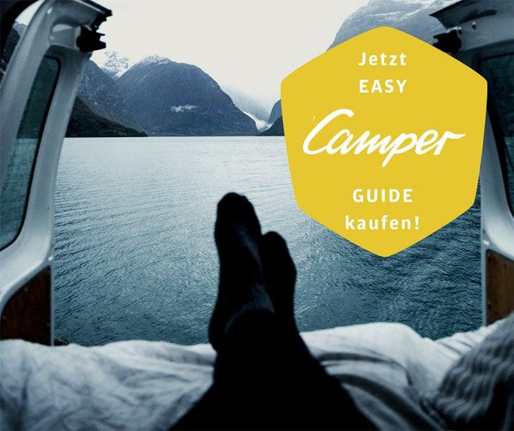 Skandinavien Rundreise PaulCamper Easy Camper Guide - Titelblatt und Link zum Kauf