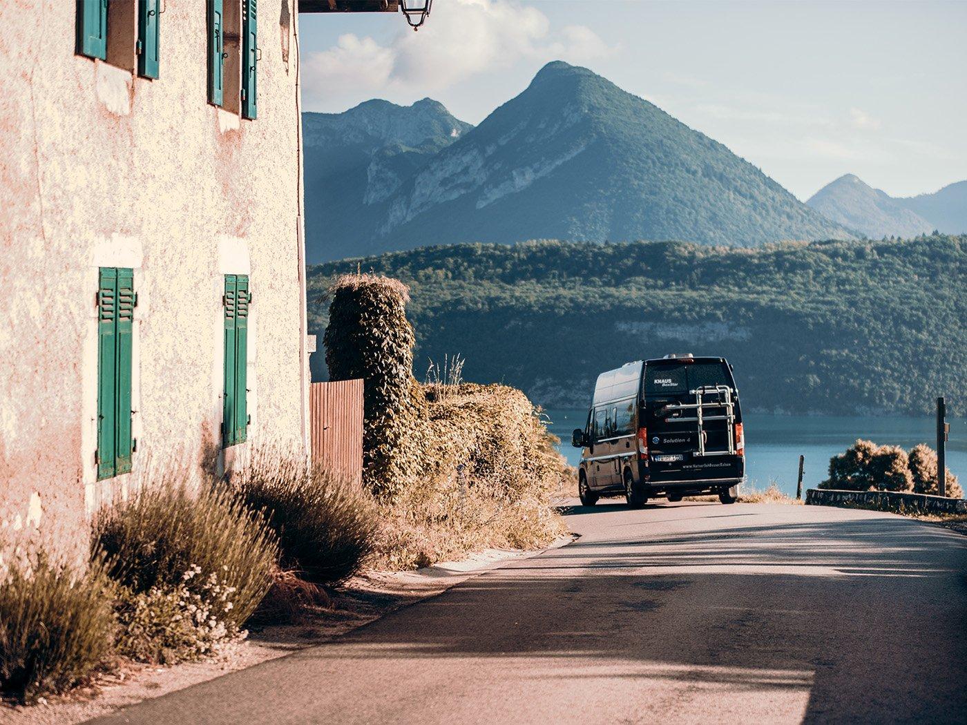 Wohnmobil-Führerschein Kastenwagen an der Küste