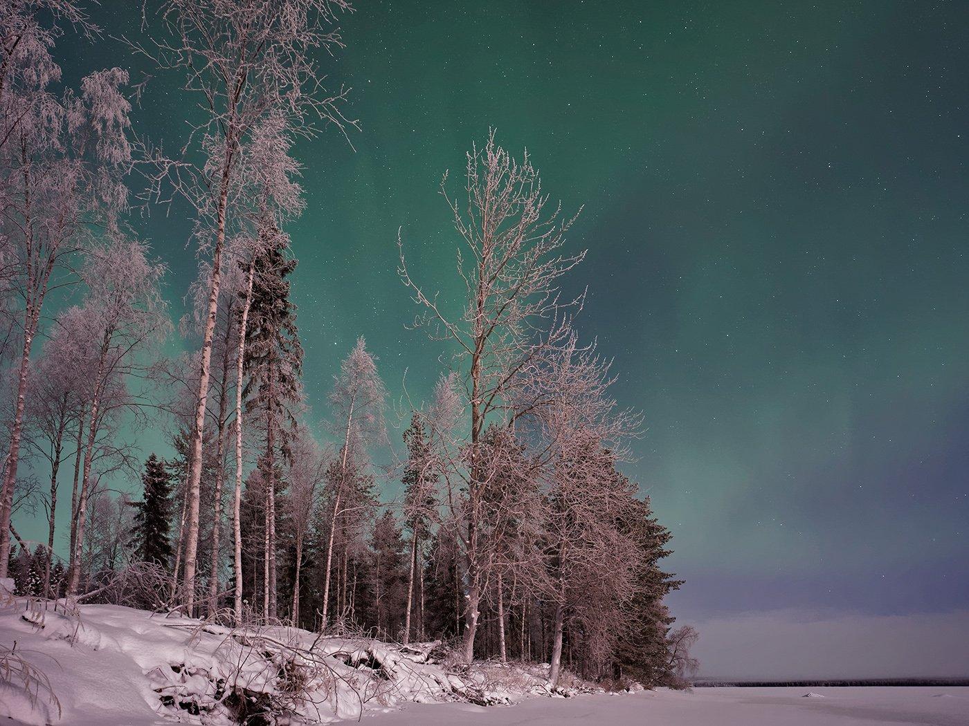 Wohnmobil Schweden Polarlichter