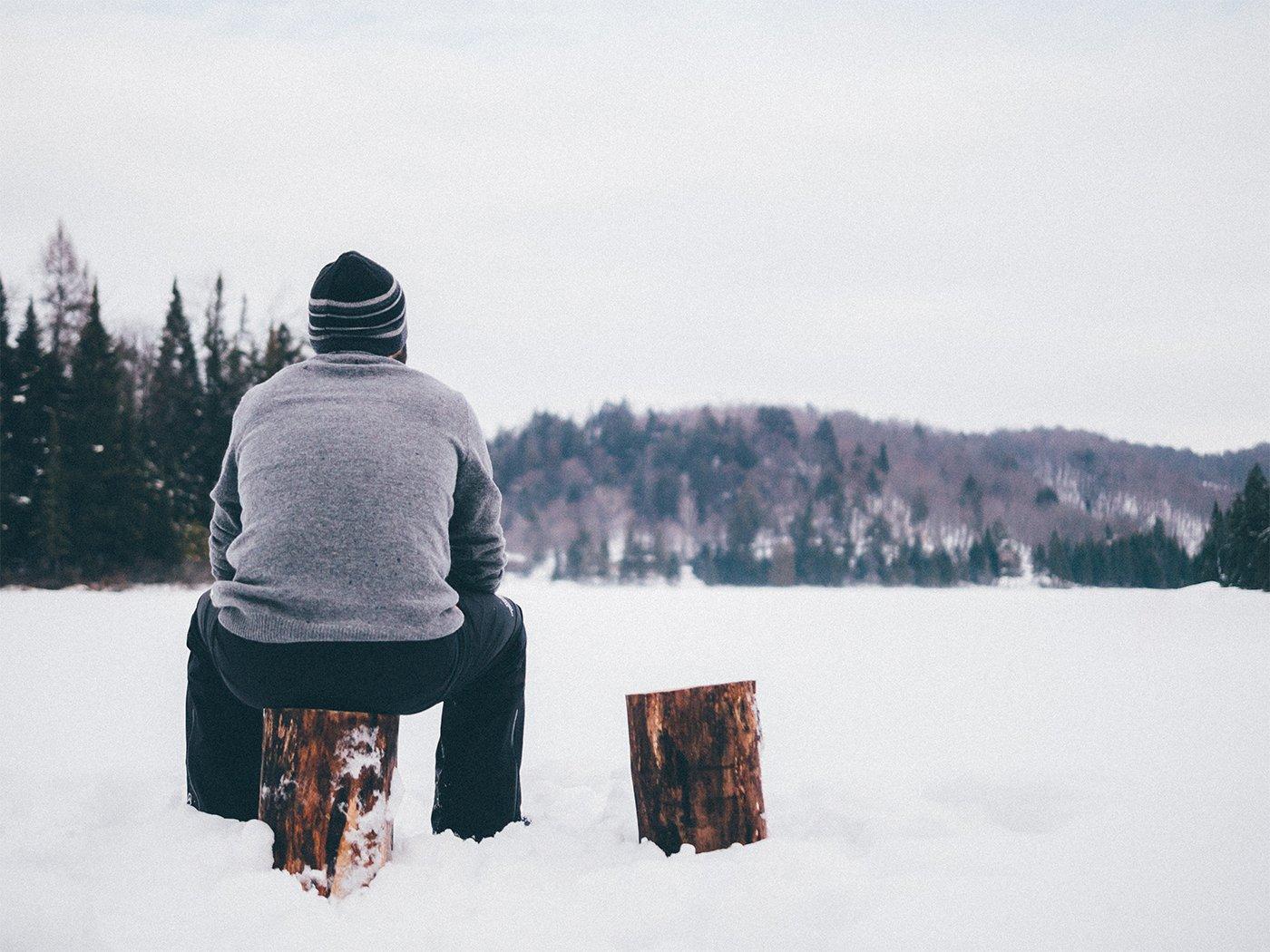 Urlaubsziele Januar Wohnmobil Schnee Einsamkeit
