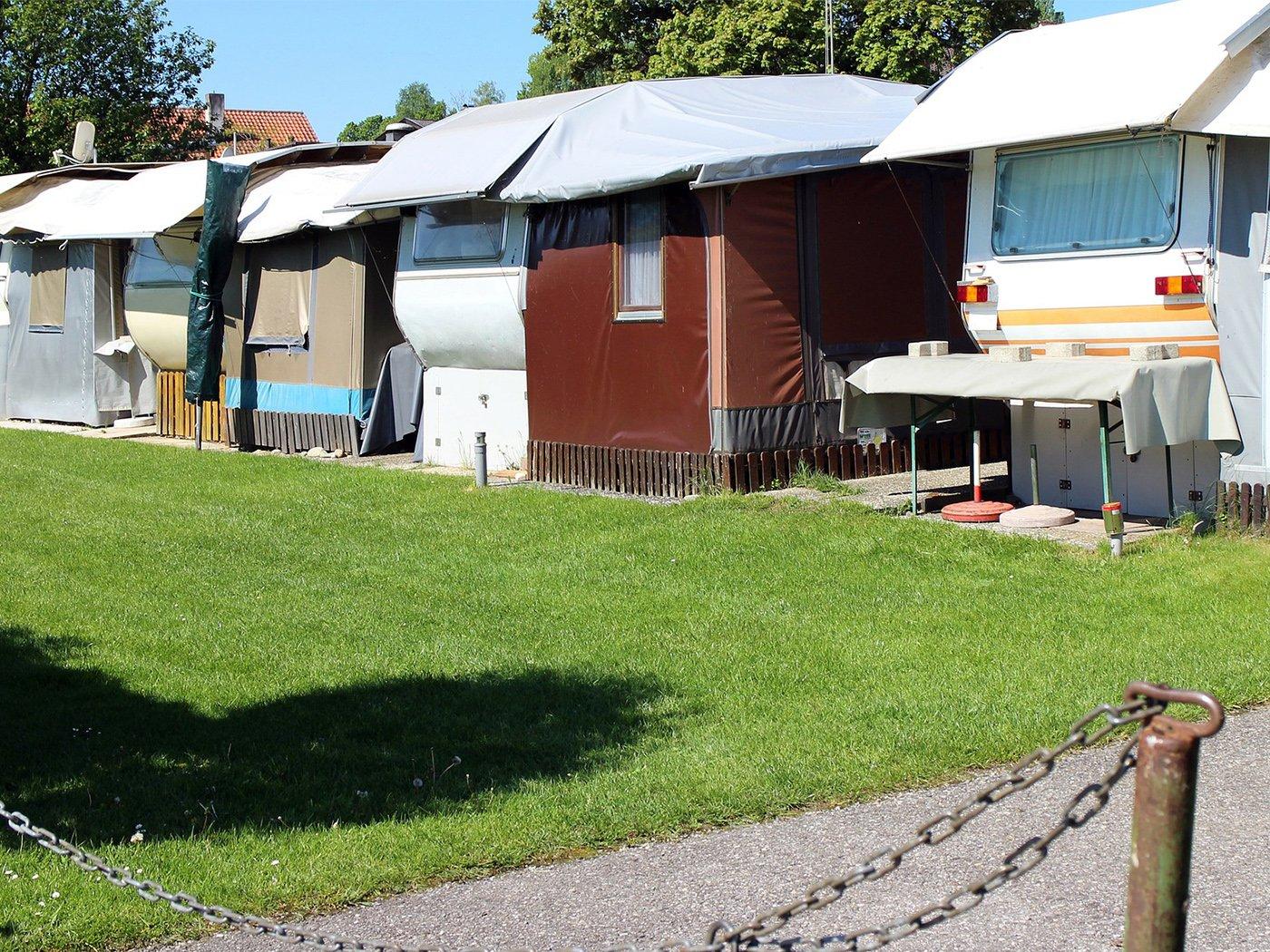 Wohnen auf dem Campingplatz Wohnmobil PaulCamper