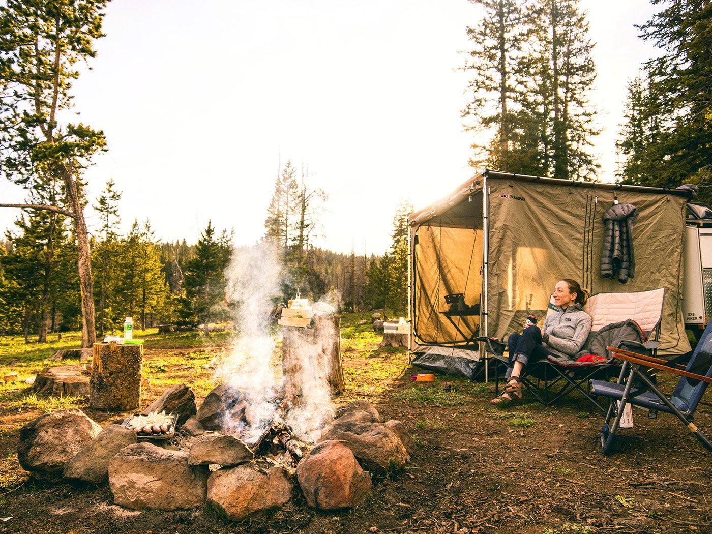 Wohnen auf dem Campingplatz Leben