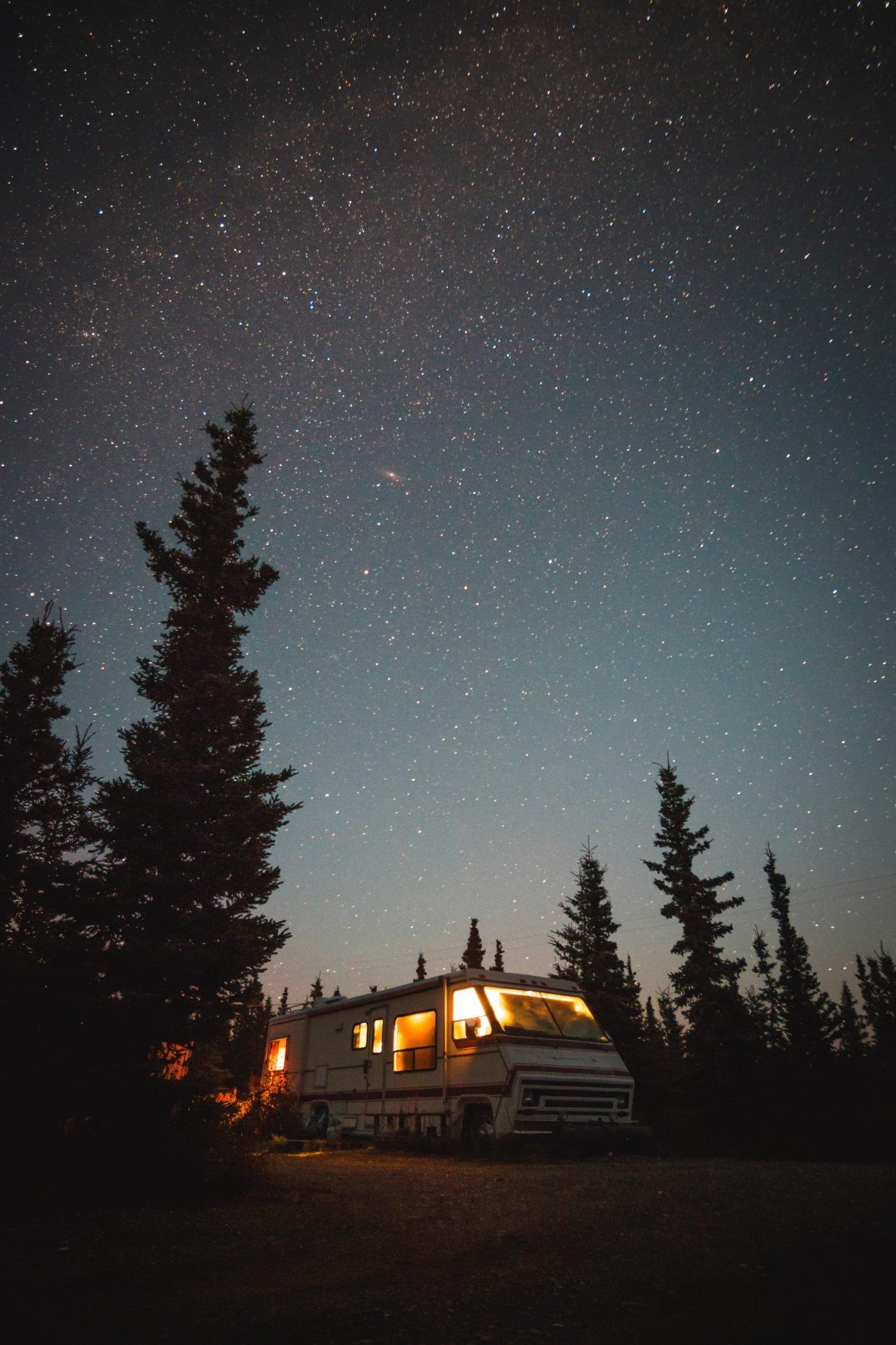 Wohnmobil Heizung in der Nacht dunkel Alkoven