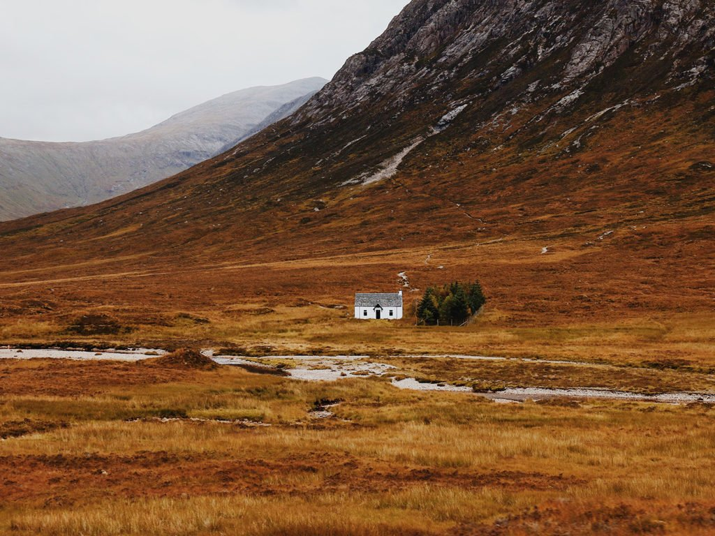 Drehorte in Europa Harry Potter Highlands kleines Haus Berge