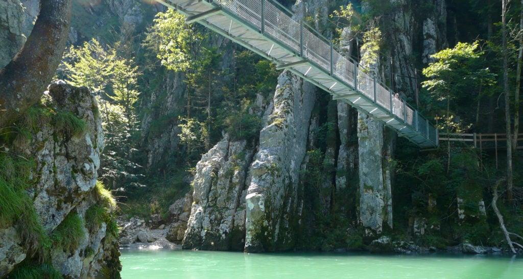entenlochklamm Hängebrücke rund um München