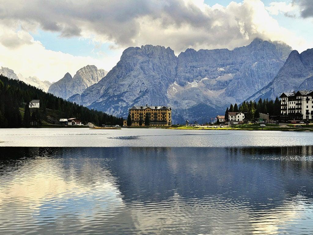 Drehort in Europa Misurina See Dolomiten