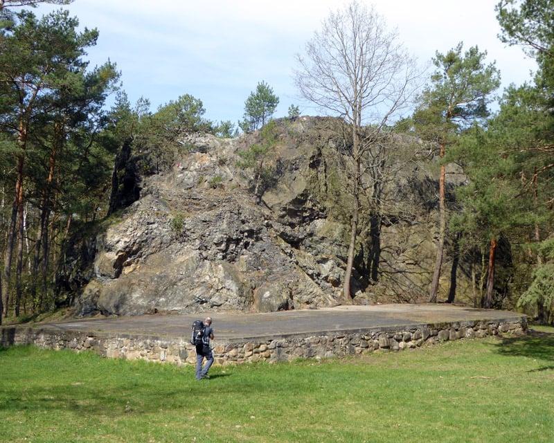 Rothsteiner Felsen zum Klettern in Brandenburg