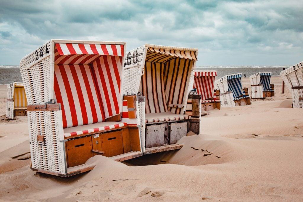 Familienurlaub Nordsee Strandkörbe