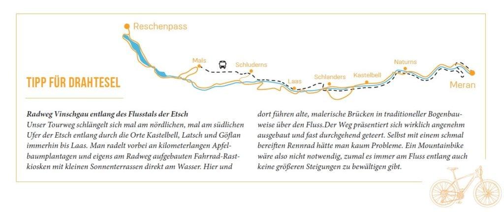 Fahrradtour in Südtirol Meraner Hhenweg