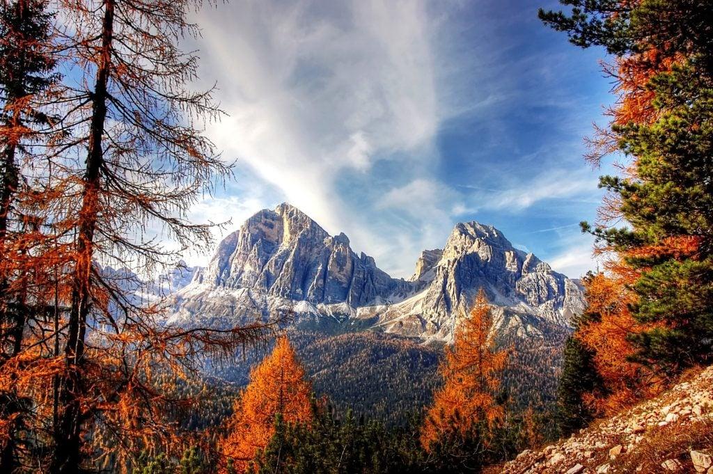 Camping in Südtirol im Herbst