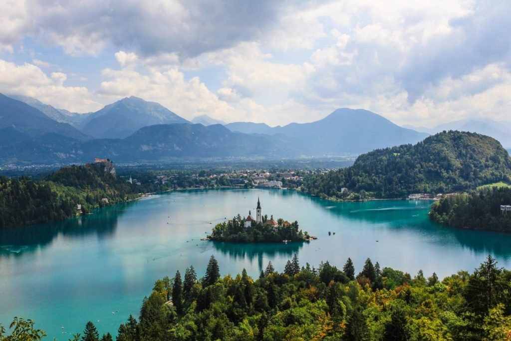 Camping in Slowenien Bleder See